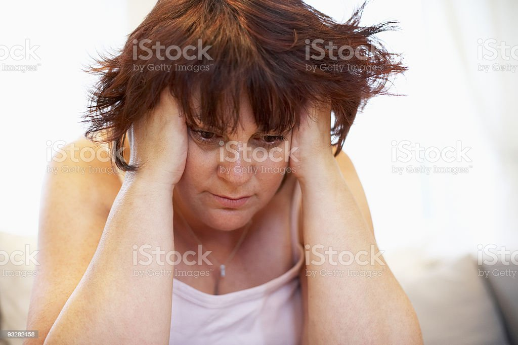 Depressed Overweight Woman royalty-free stock photo