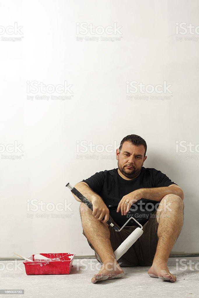 Depressed Painter stock photo