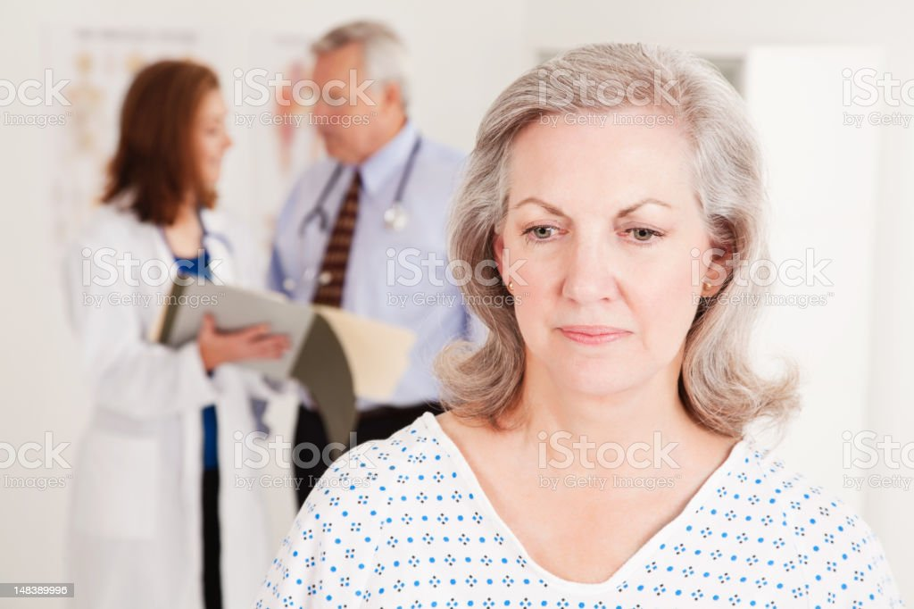 Depressed Patient At Doctor's Office royalty-free stock photo