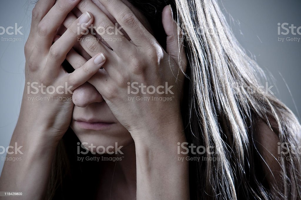 depressed royalty-free stock photo