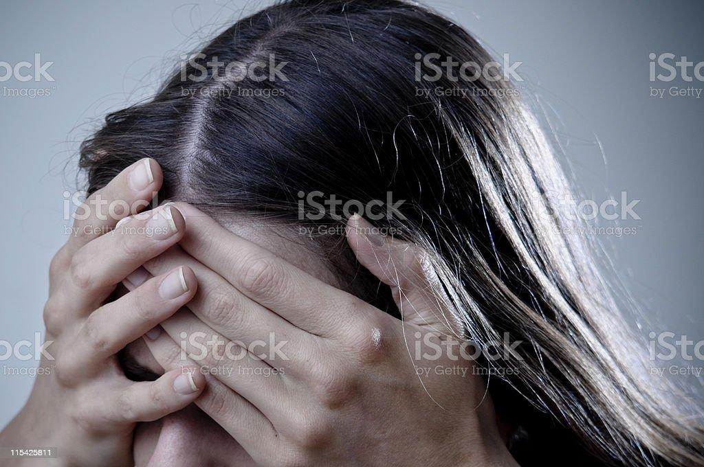 depressed royalty-free stock photo