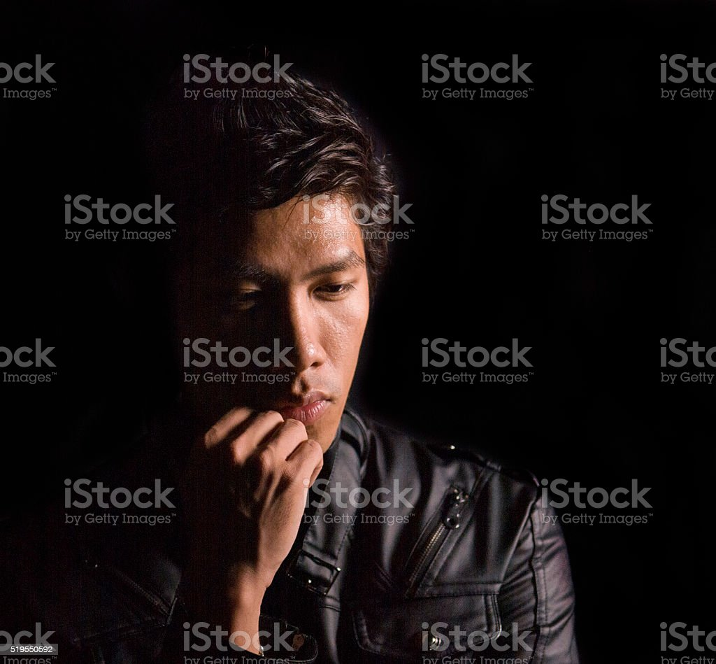 Depressed stock photo