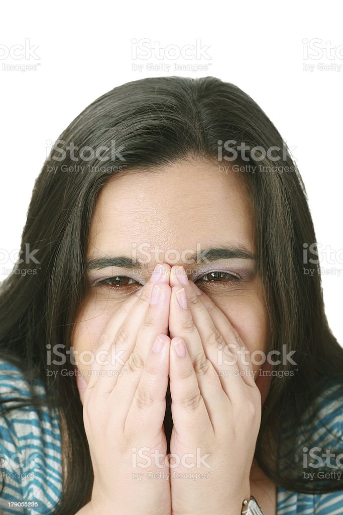 Depressed, sad woman royalty-free stock photo