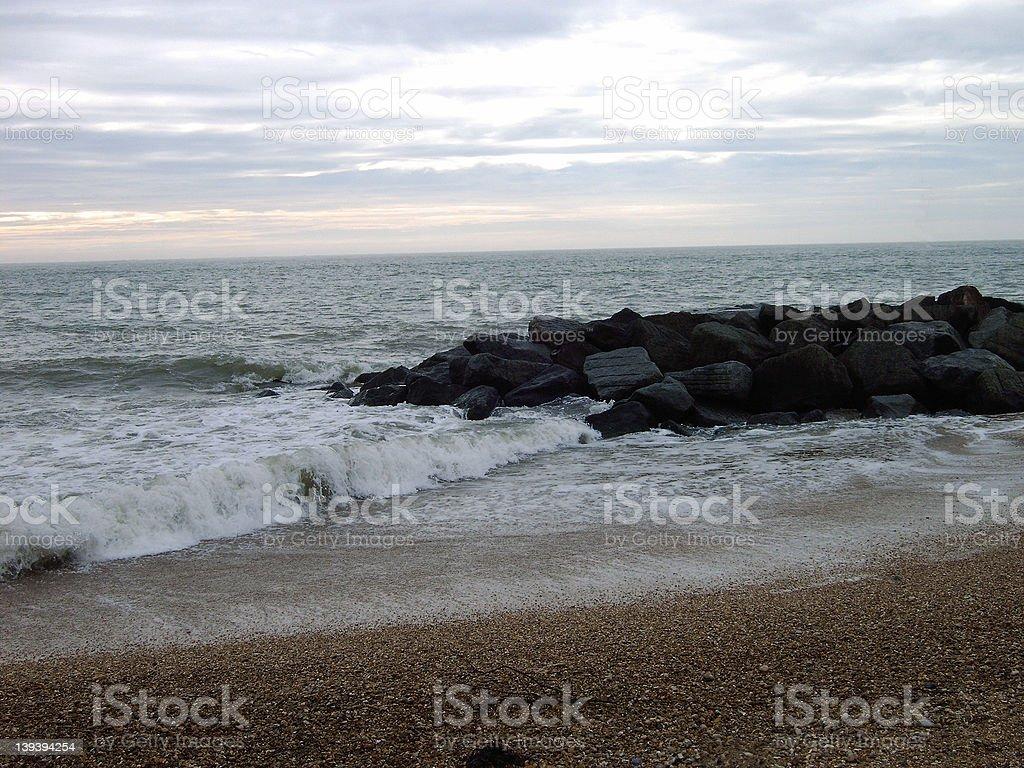Depressed Sea Side royalty-free stock photo