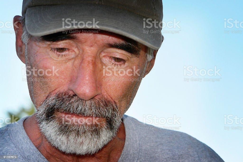 depressed senior man close up portrait royalty-free stock photo