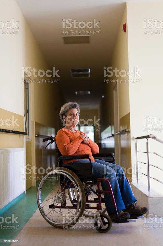 depressed senior woman stock photo