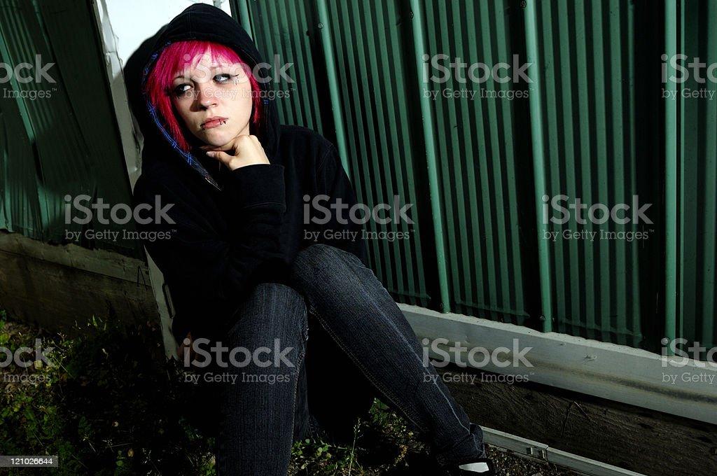 Depressed teen royalty-free stock photo