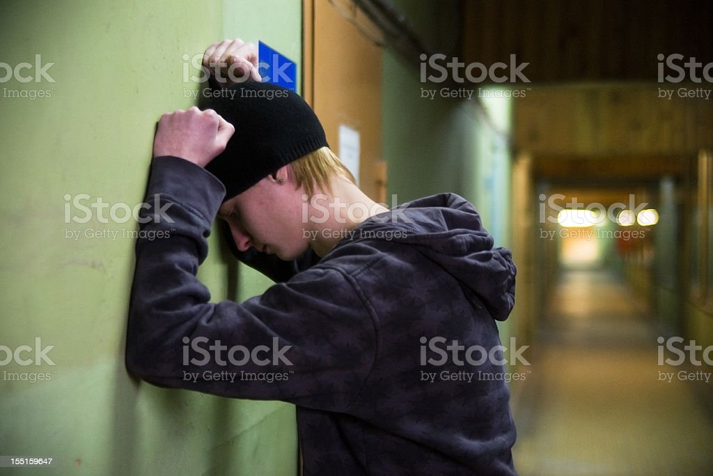 Depressed teenager royalty-free stock photo