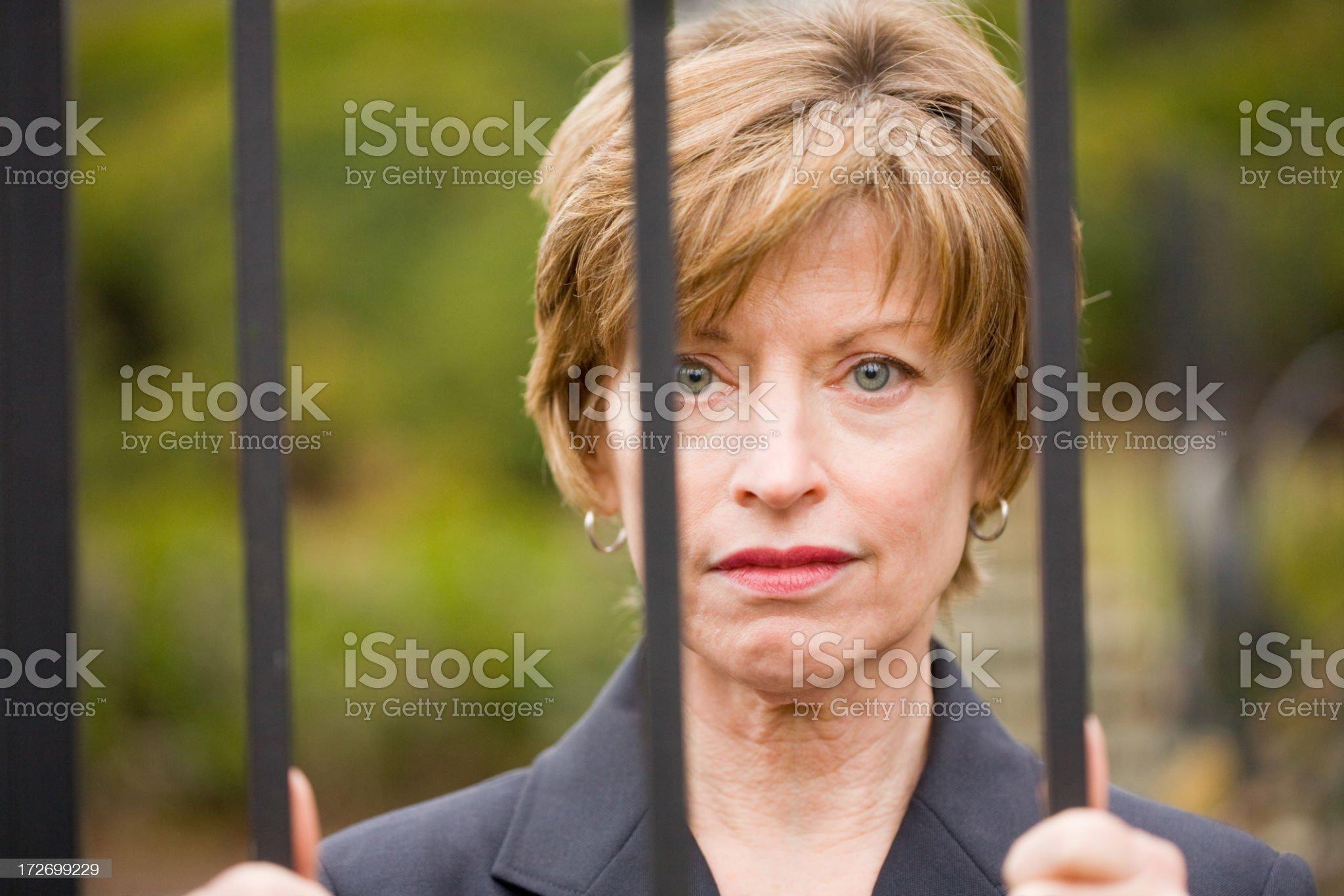 Depressed woman royalty-free stock photo