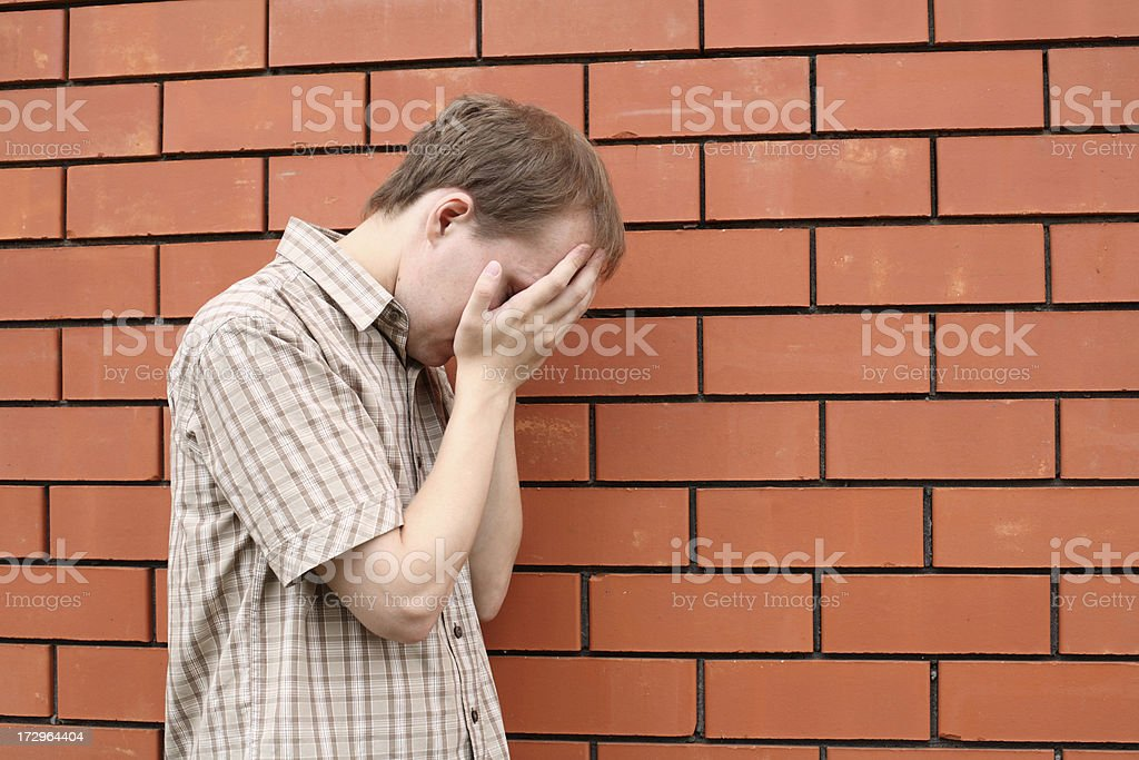 Depressed young man royalty-free stock photo