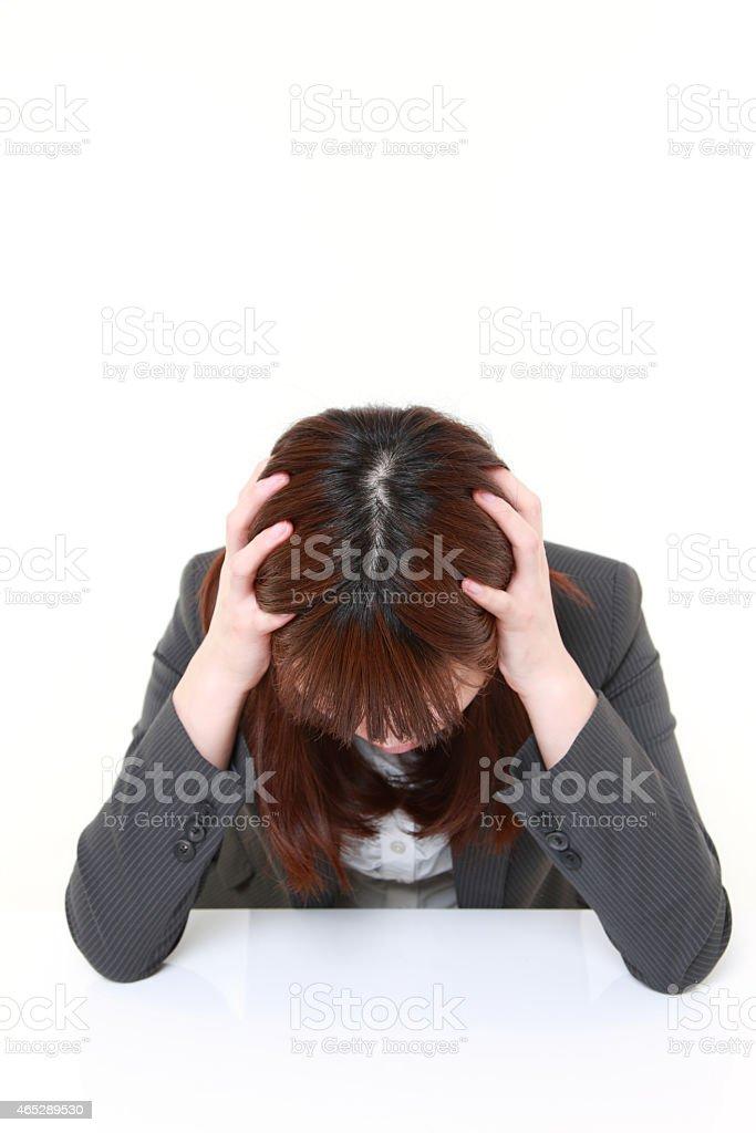 depressed?businesswoman stock photo