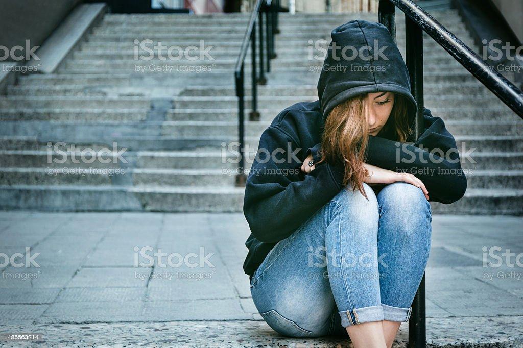Depressed/Sad girl stock photo