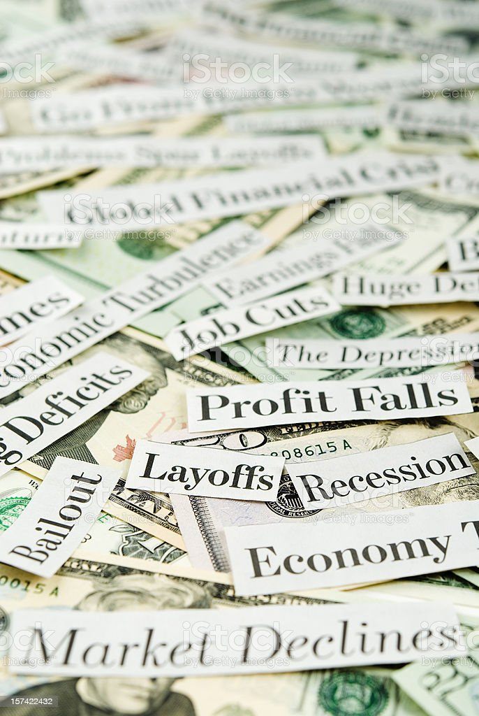 Depressing economy news - IX stock photo