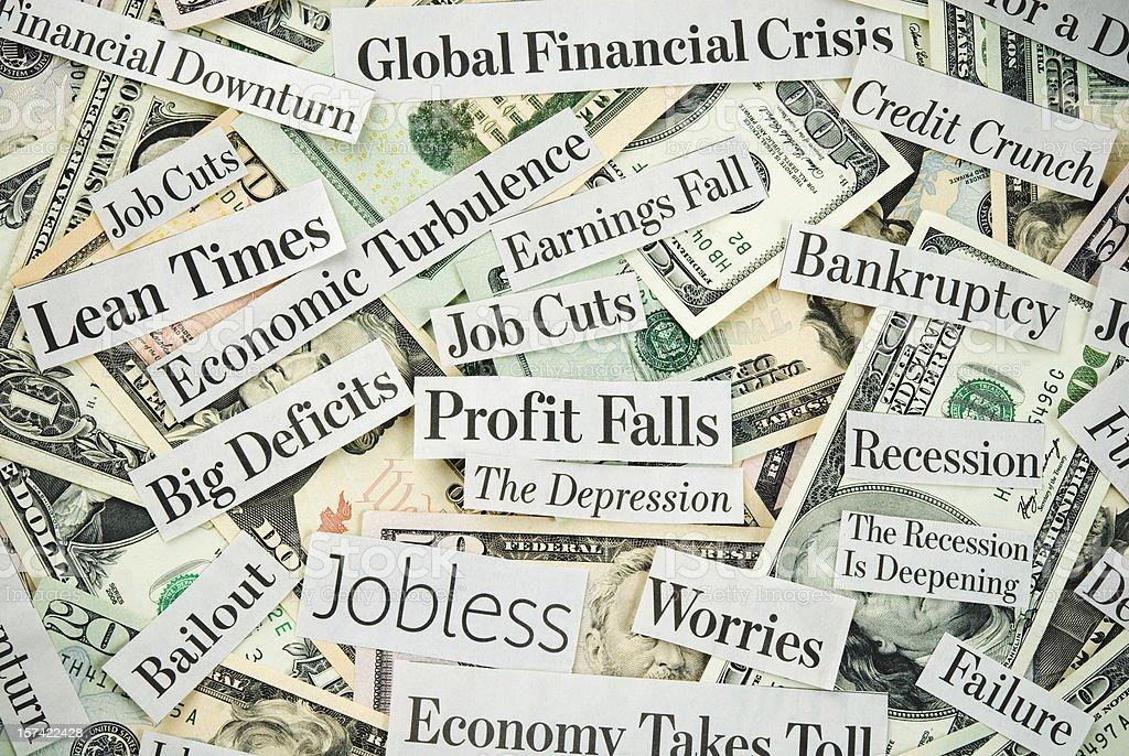 Depressing economy news - VI stock photo