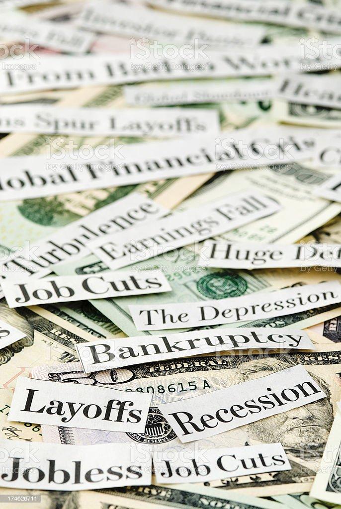 Depressing economy news - XI royalty-free stock photo