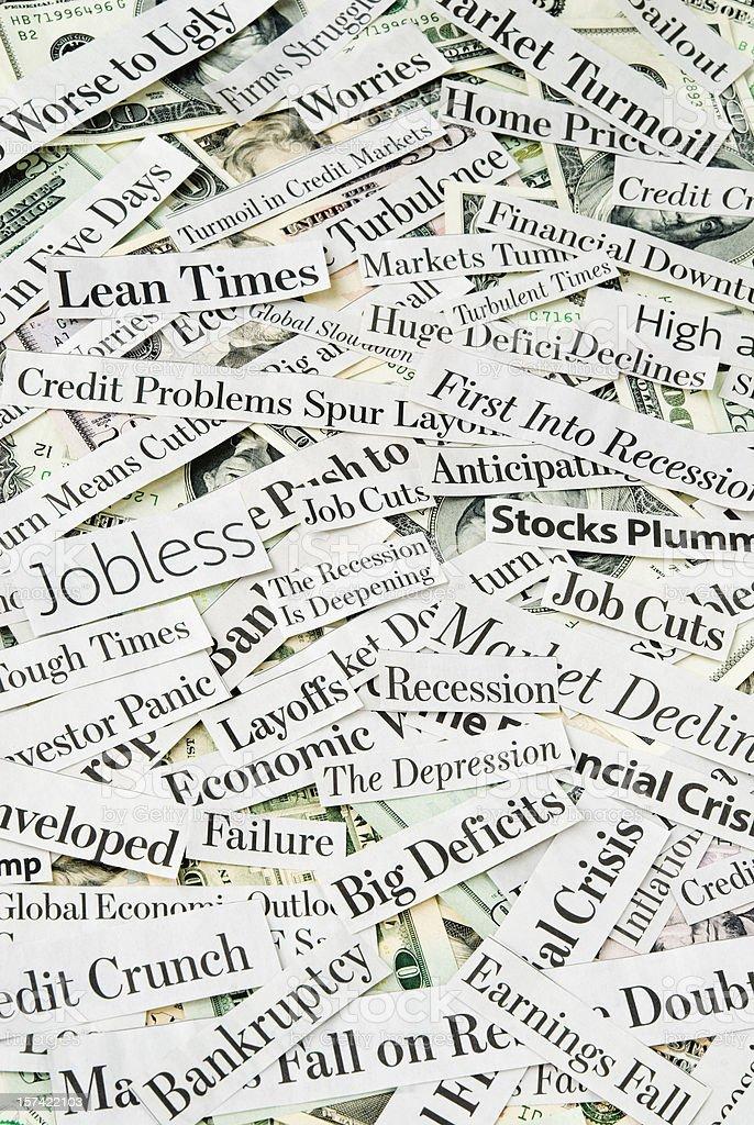 Depressing economy news - XII royalty-free stock photo