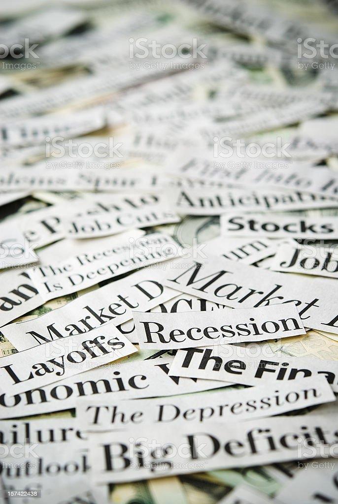 Depressing economy news - XIV stock photo
