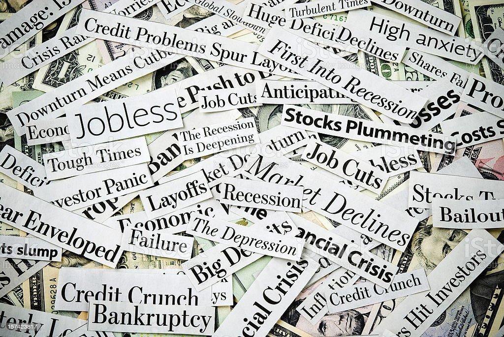 Depressing economy news - XIX stock photo