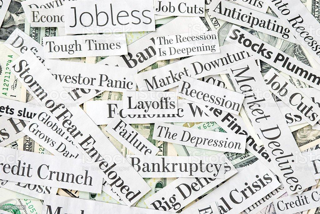 Depressing economy news - XVI royalty-free stock photo