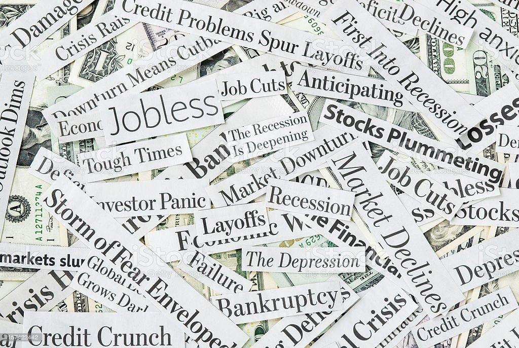 Depressing economy news - XVII stock photo