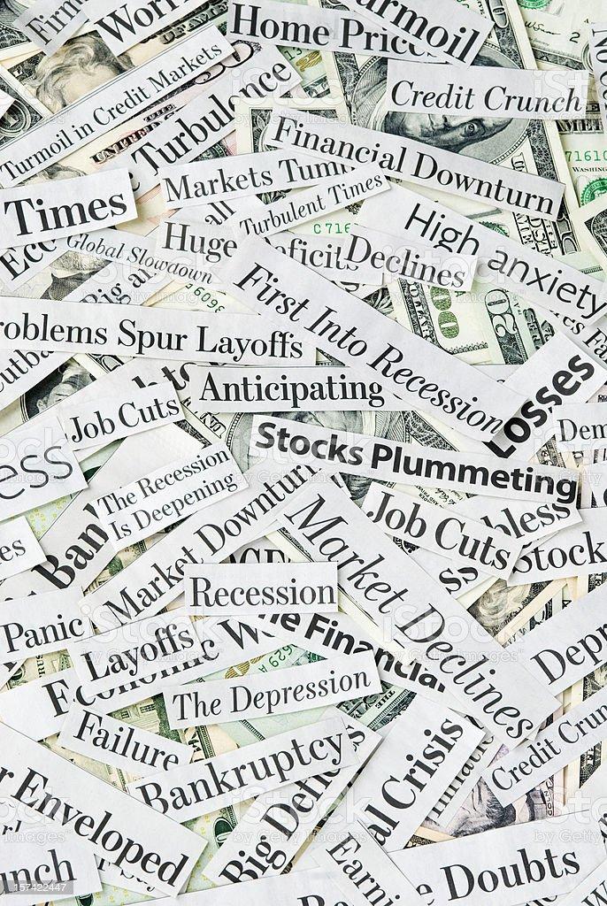 Depressing economy news - XVIII stock photo