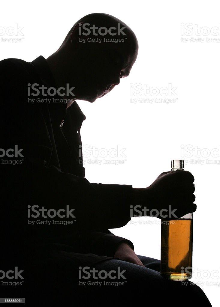 Depression & alcohol stock photo