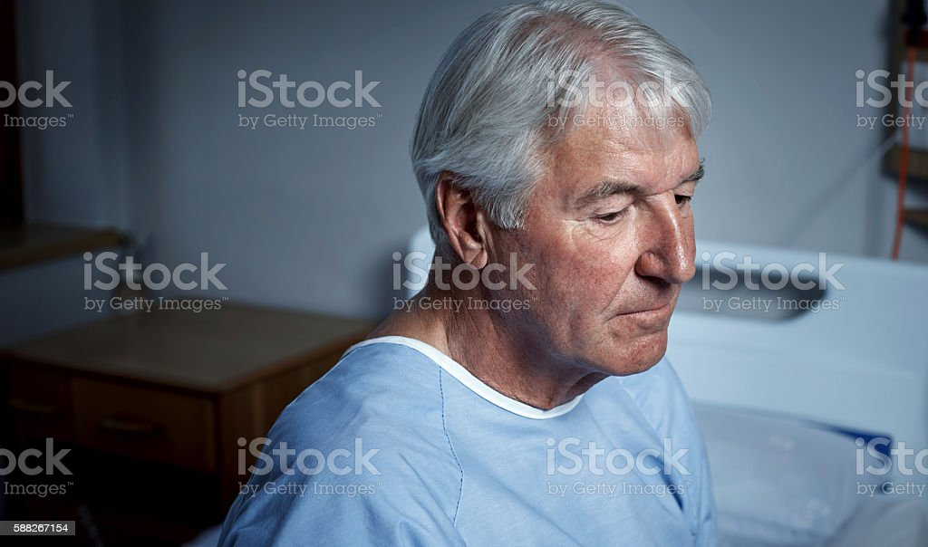 Depression among older adults is more common than we think stock photo