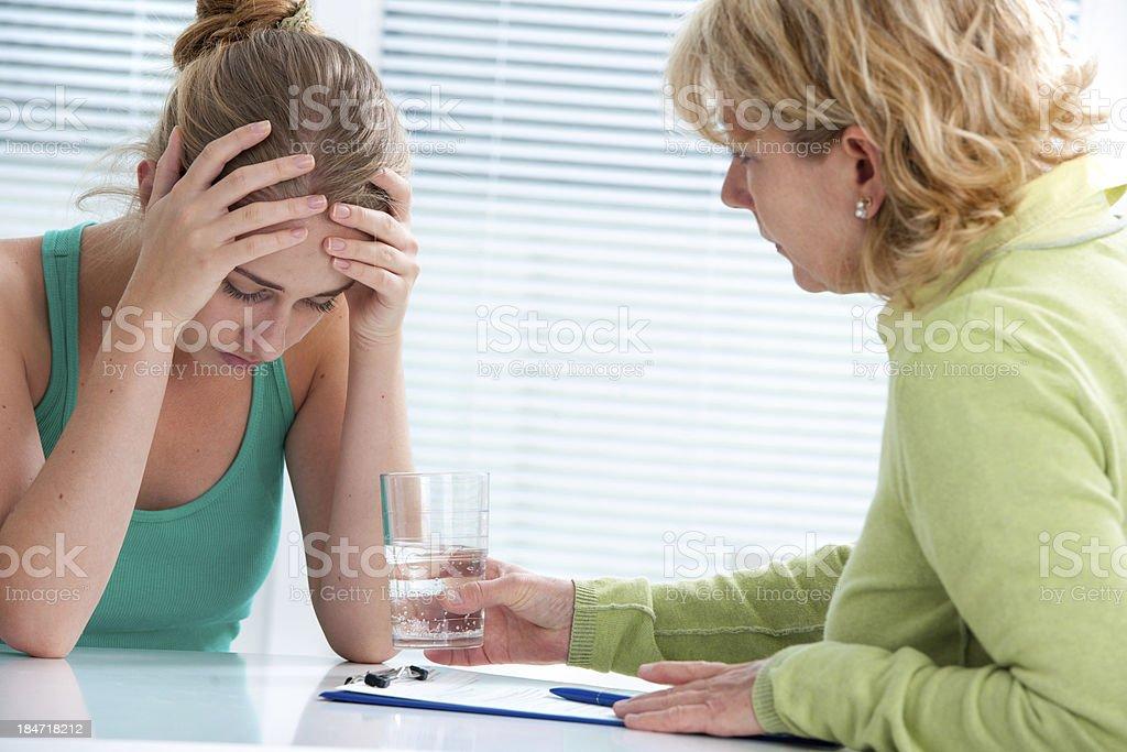 depression and sorrow stock photo