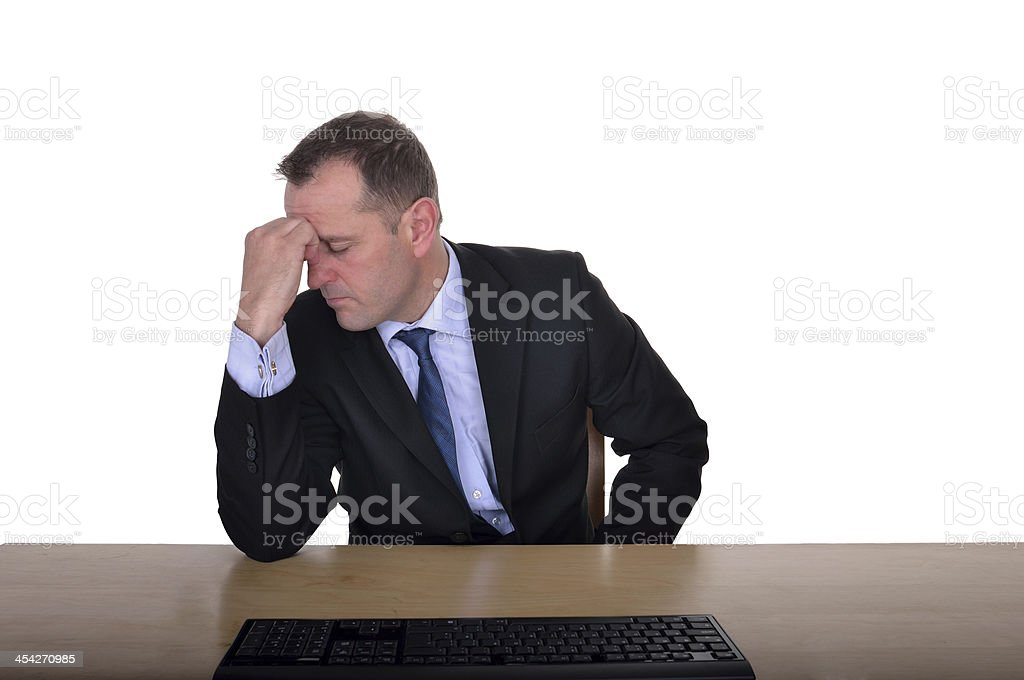 Depression at work royalty-free stock photo