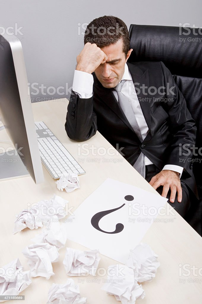 Depression at work royalty-free stock photo