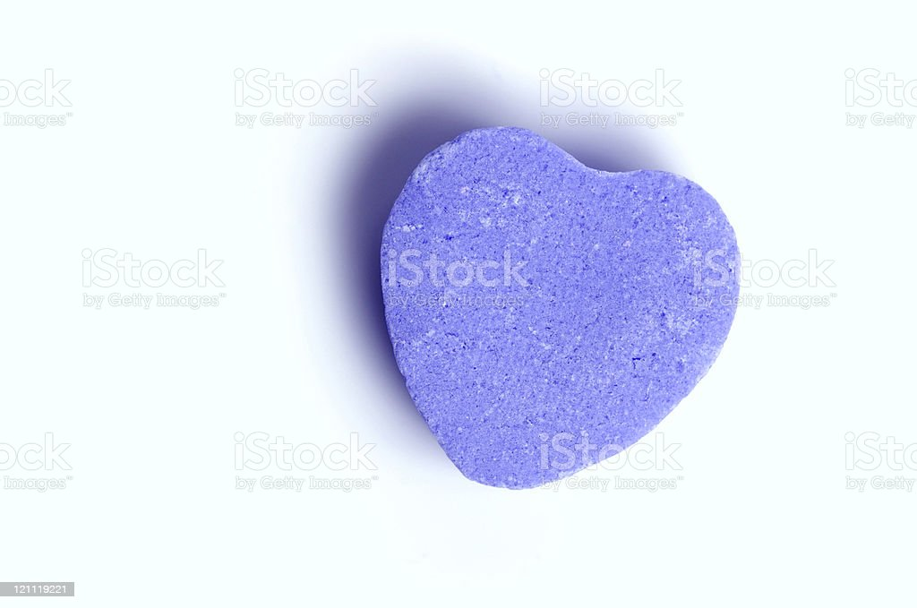 Depression - Blue Heart royalty-free stock photo