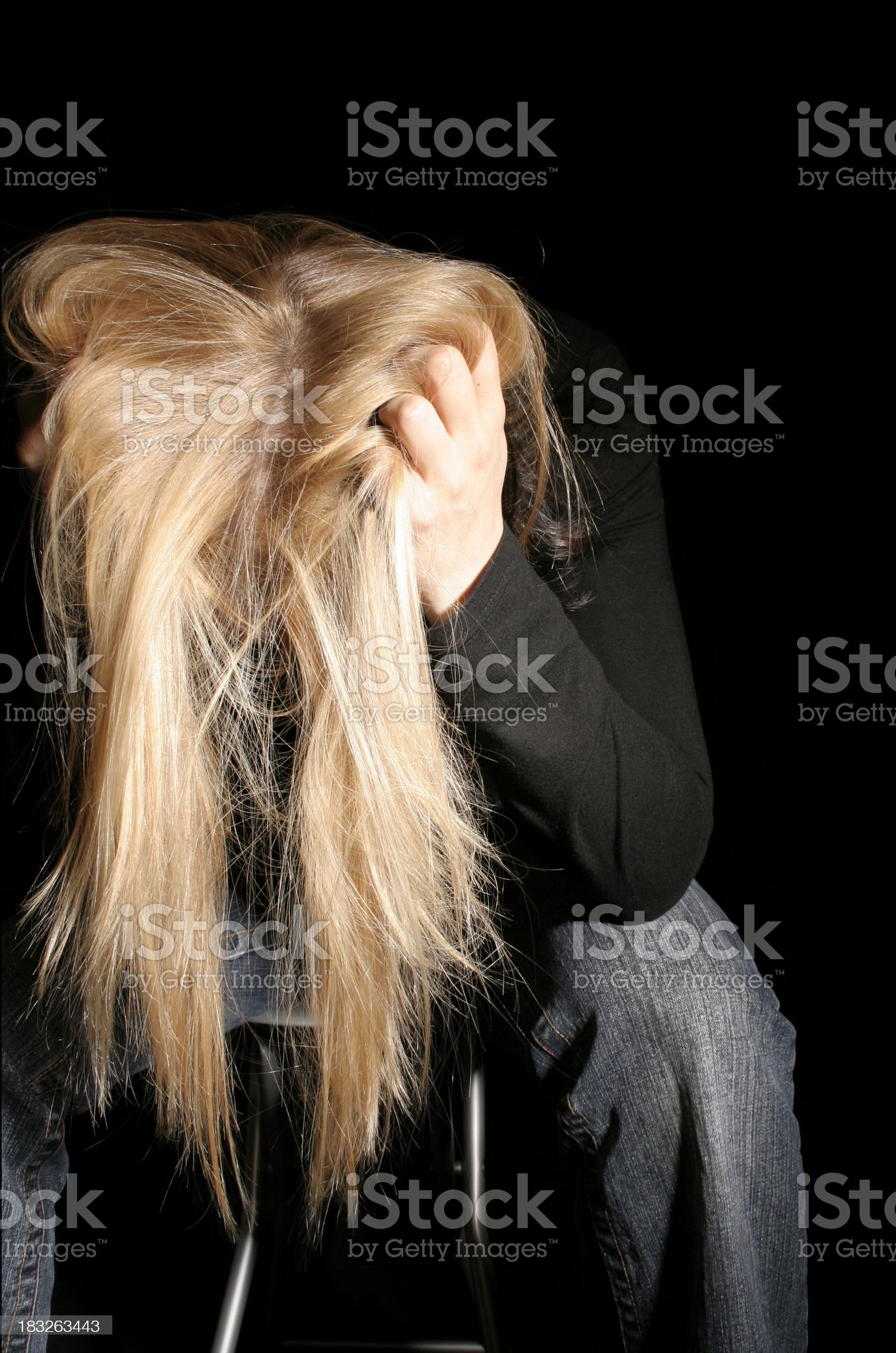 Depression - frustration royalty-free stock photo