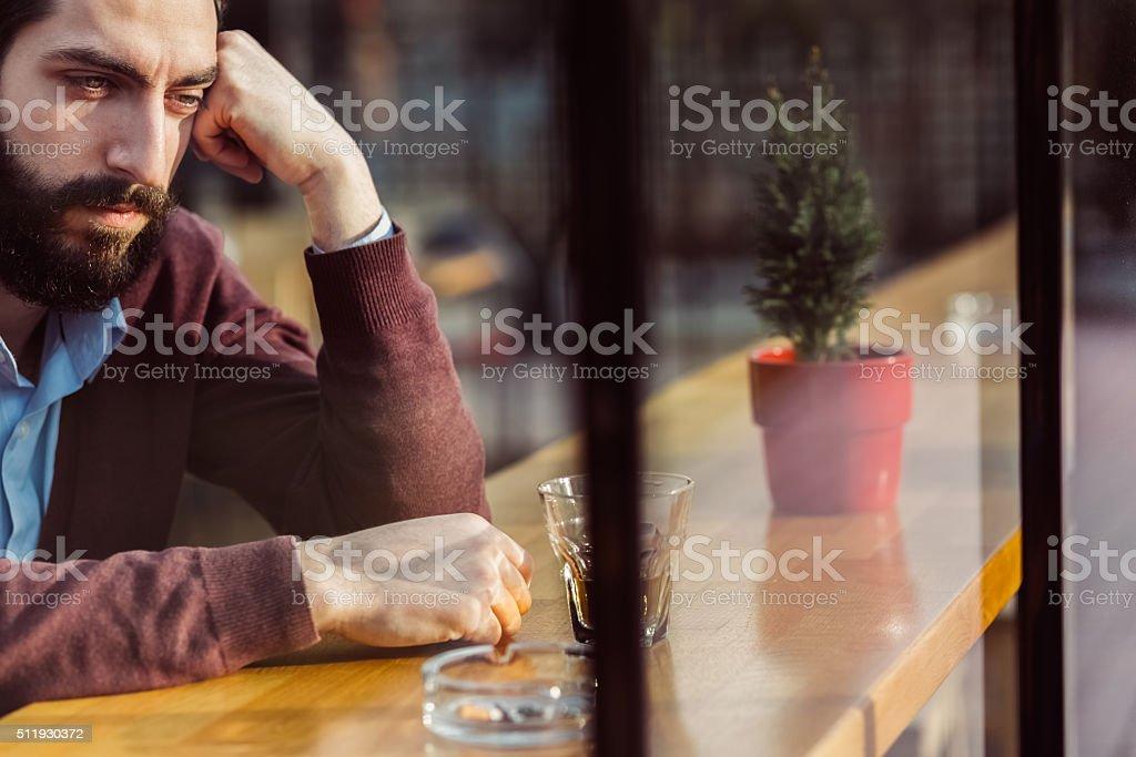 Depression in men stock photo