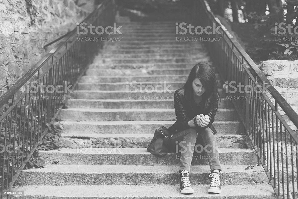 Depression in women stock photo