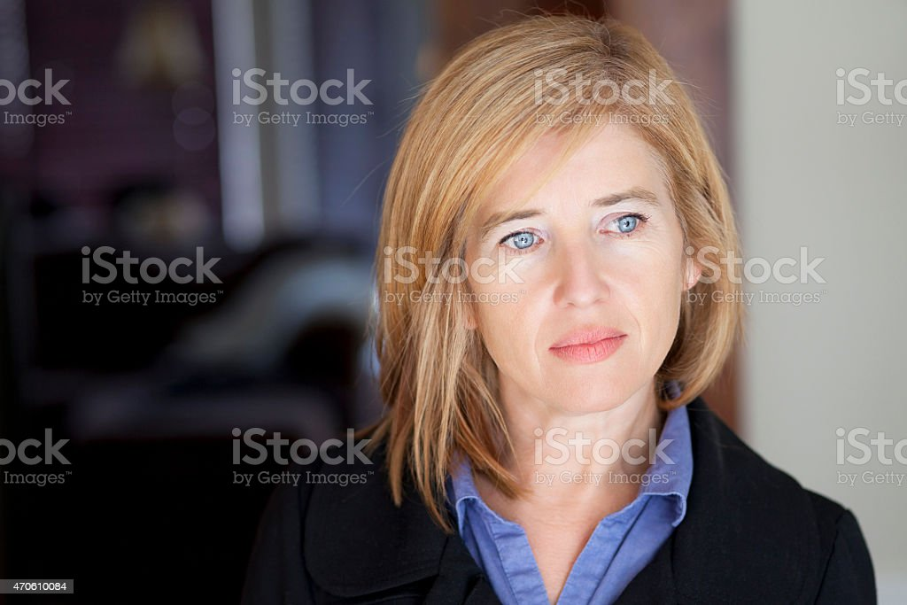 Depression Of A Mature Woman stock photo