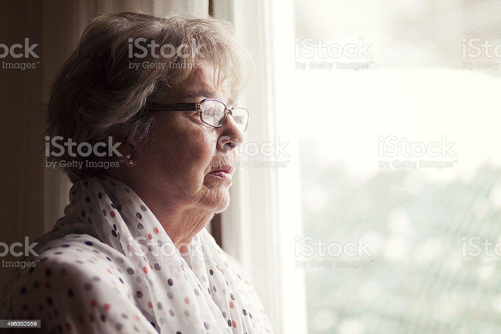 Depression Of A Senior Woman stock photo