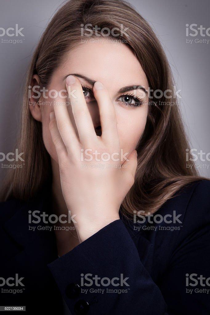 Depression stock photo