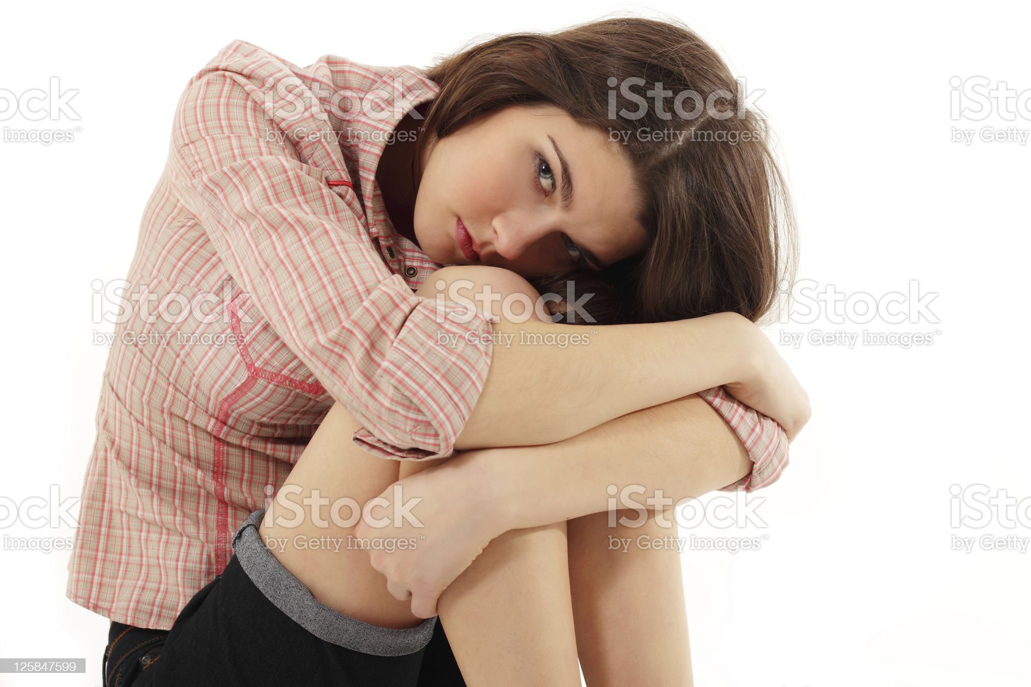 depression teen girl cried lonely royalty-free stock photo