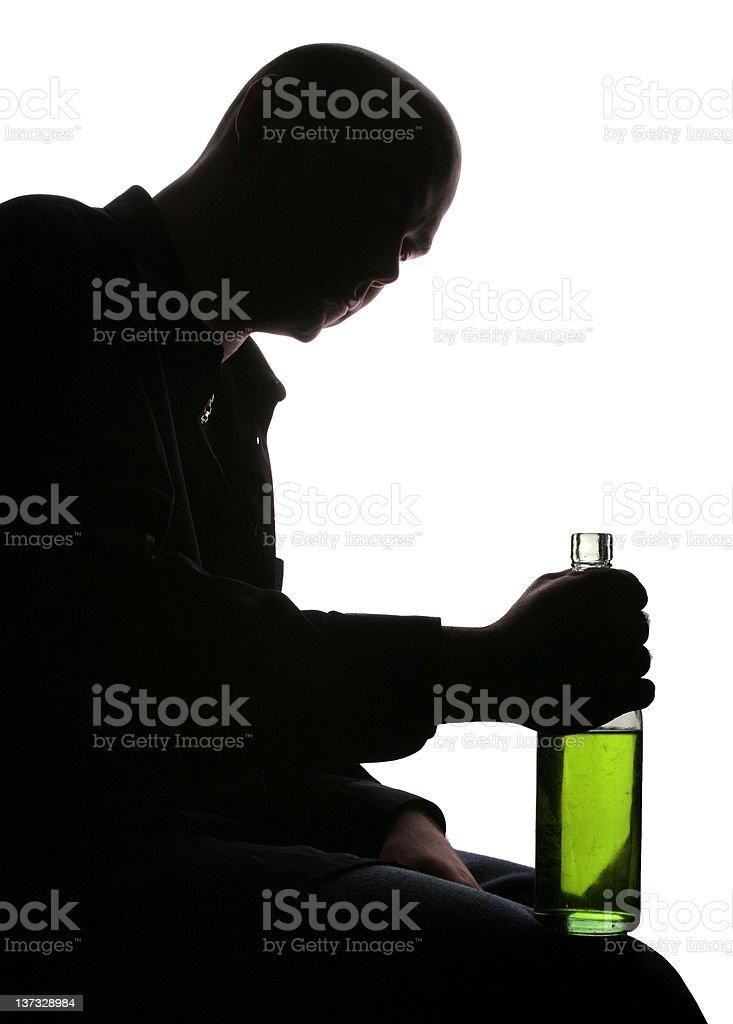 Depression wit absint royalty-free stock photo