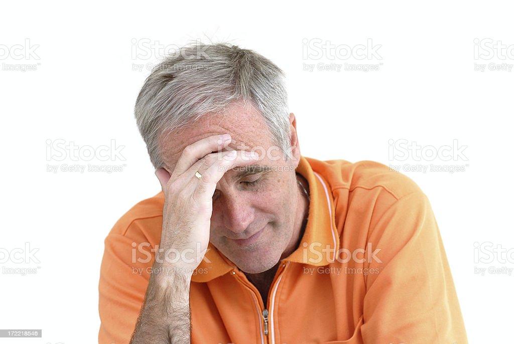 depressive man royalty-free stock photo
