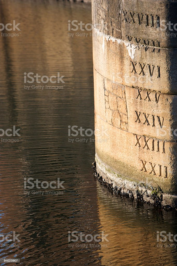 Depth Gauge, Albert Dock, Liverpool royalty-free stock photo