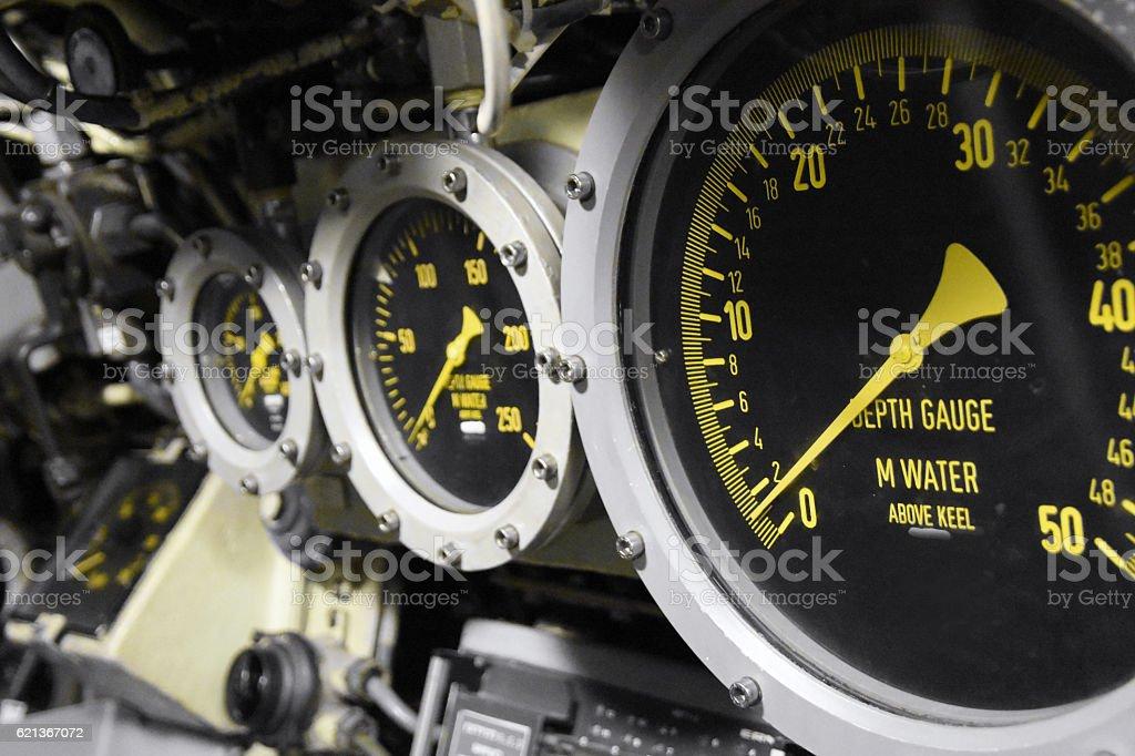 Depth gauge stock photo