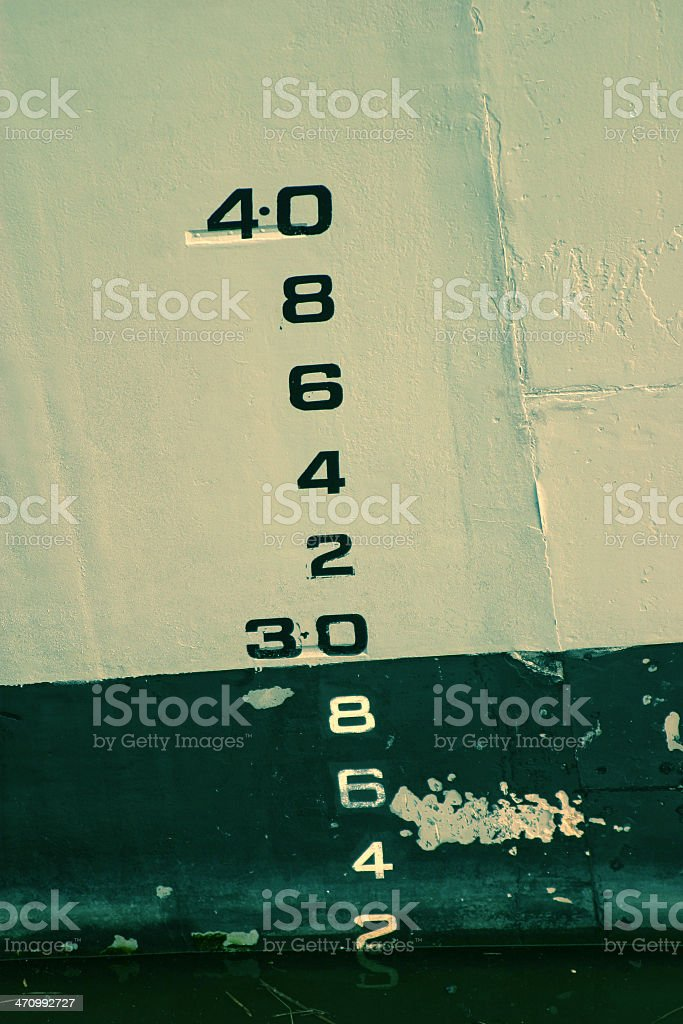 Depth Markings (cross processed) royalty-free stock photo