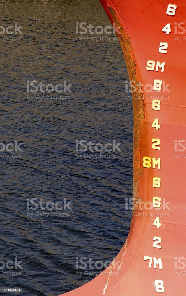 Depth Markings stock photo
