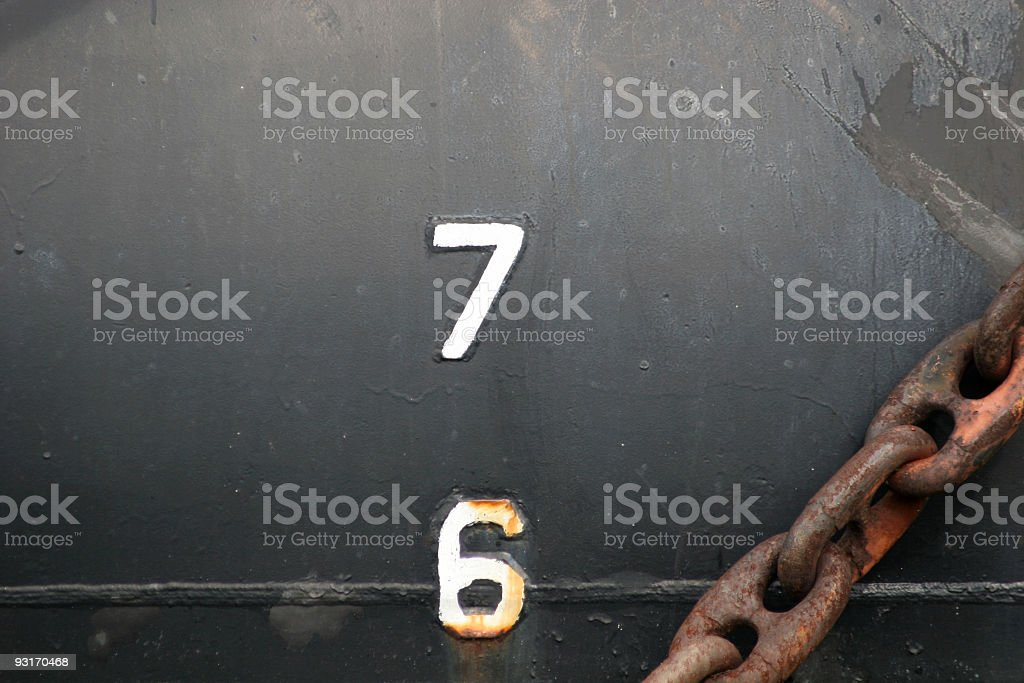 SF depth markings royalty-free stock photo