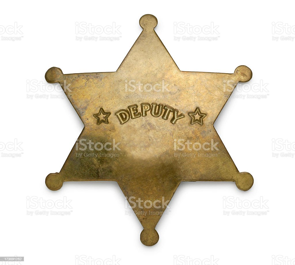 Deputy Badge stock photo