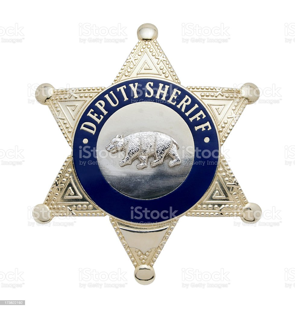 Deputy Sheriff's Badge stock photo