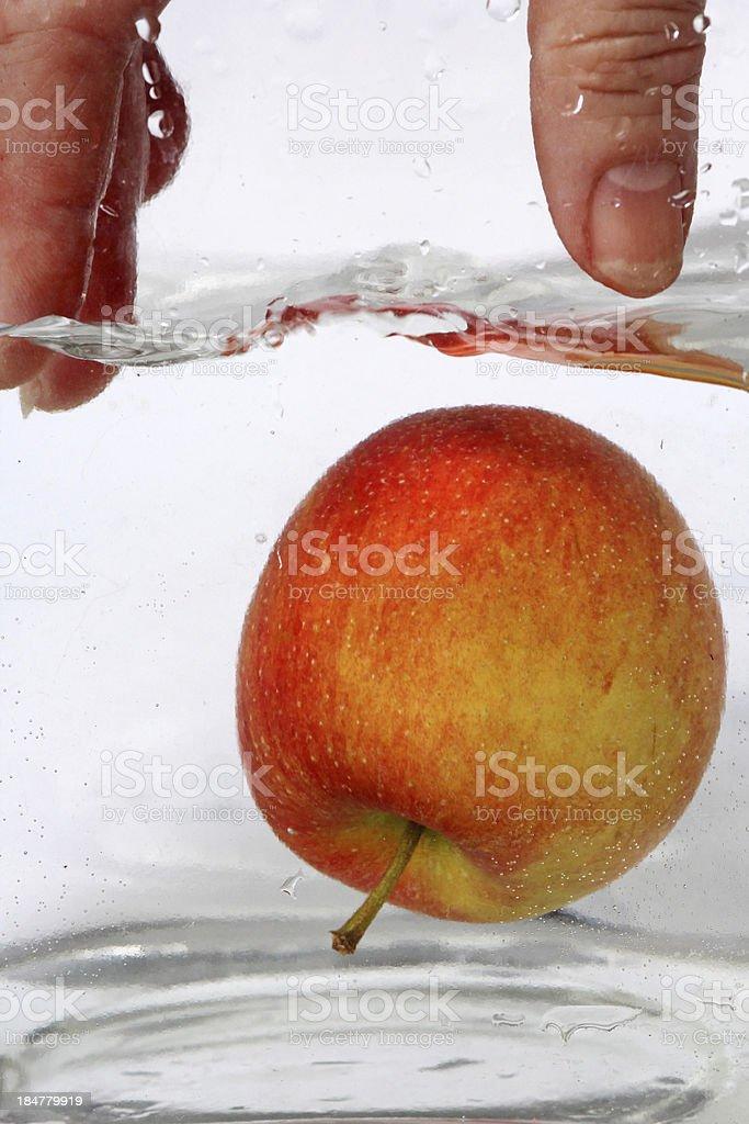 Der Apfel stock photo