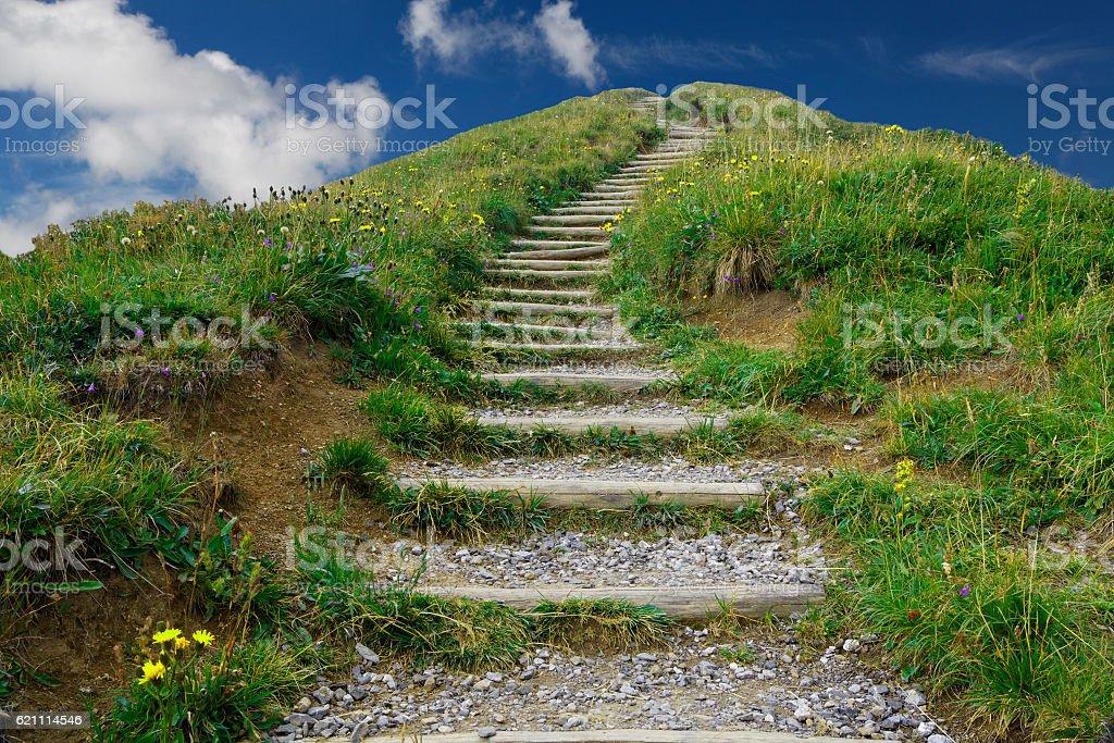 Der Berg Weg nach oben stock photo