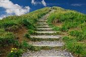 Der Berg Weg nach oben